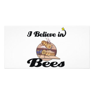 i believe in bees picture card