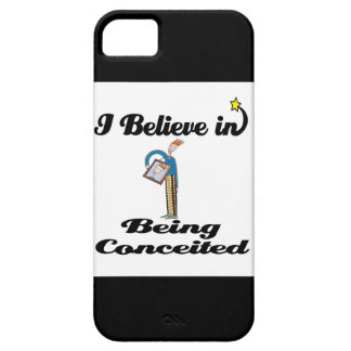 i believe in being conceited iPhone 5 covers