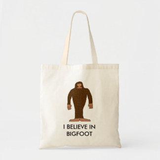 """I believe in bigfoot"" bag"