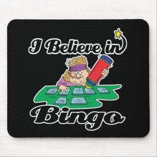 i believe in bingo mouse pad