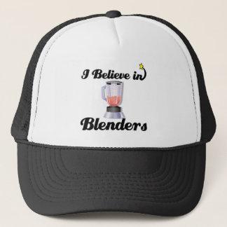 i believe in blenders trucker hat