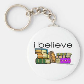 I believe in Books Keychain