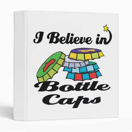 i believe in bottle caps 3 ring binders