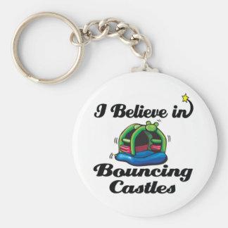i believe in bouncing castles keychain