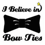 i believe in bow ties standing photo sculpture