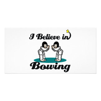 i believe in bowing picture card