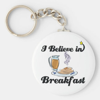 i believe in breakfast keychain