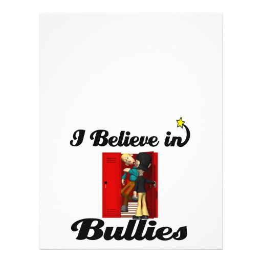 i believe in bullies full color flyer