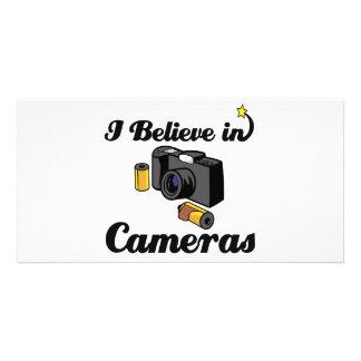 i believe in cameras photo card template