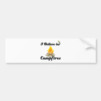 i believe in campfires bumper sticker