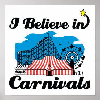 i believe in carnivals poster