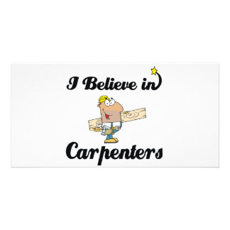 i believe in carpenters photo card template