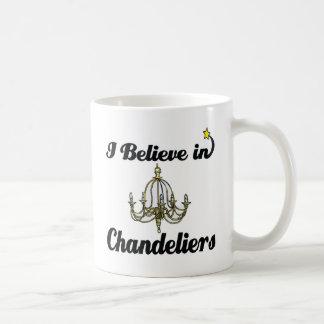i believe in chandeliers coffee mug