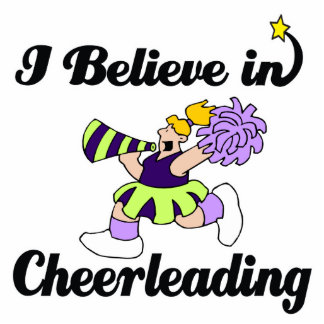 i believe in cheerleading cut out