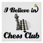 i believe in chess club poster