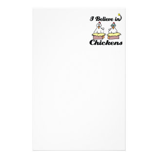 i believe in chickens stationery