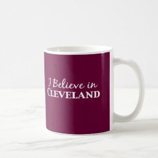 I Believe In Cleveland Gifts Coffee Mug