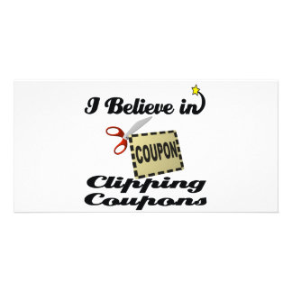 i believe in clipping coupons picture card
