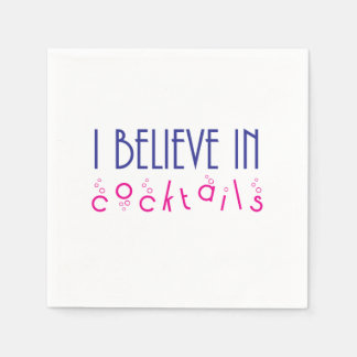 I Believe in Cocktails Party Napkins Paper Napkin