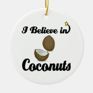 i believe in coconuts ceramic ornament