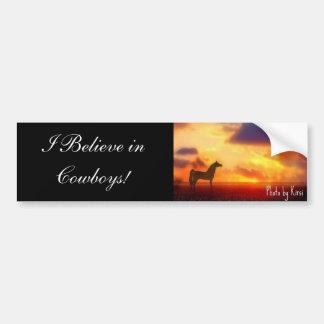I Believe in Cowboys! Bumper Sticker