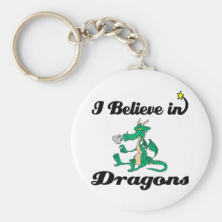 i believe in dragons keychain