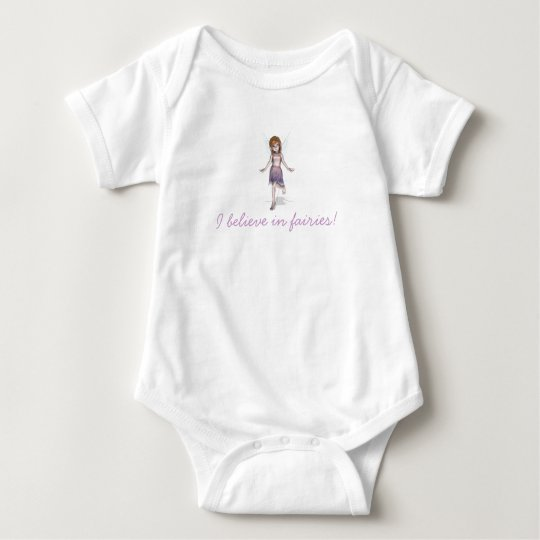 I believe in fairies! baby bodysuit