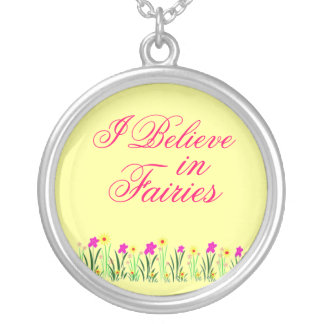 I Believe in Fairies Necklace Yellow and Pink