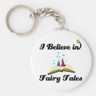 i believe in fairy tales basic round button keychain