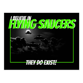 I believe in Flying Saucer Postcard