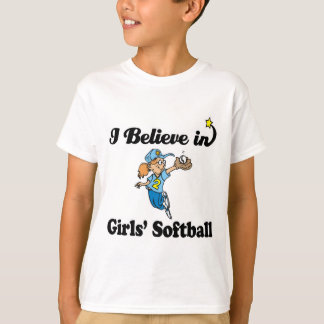 i believe in girls softball T-Shirt