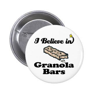 i believe in granola bars pinback buttons