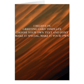 I BELIEVE IN GREETING CARD TEMPLATE