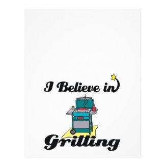 i believe in grilling flyer design