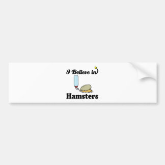 i believe in hamsters bumper sticker