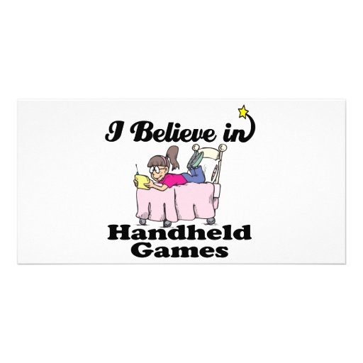 i believe in handheld games photo card template