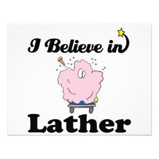 i believe in lather custom invitations