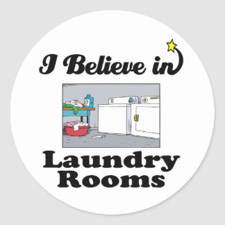 i believe in laundry rooms stickers