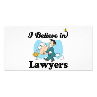 i believe in lawyers customized photo card