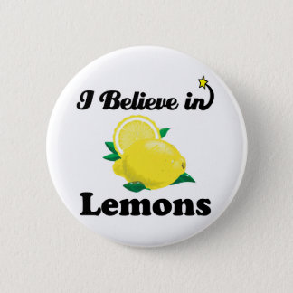 i believe in lemons 2 inch round button