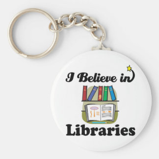 i believe in libraries keychain