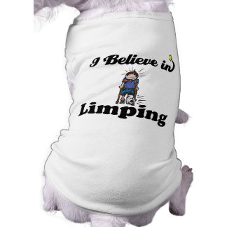 i believe in limping doggie tee