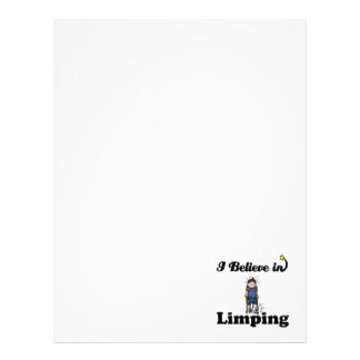 i believe in limping customized letterhead