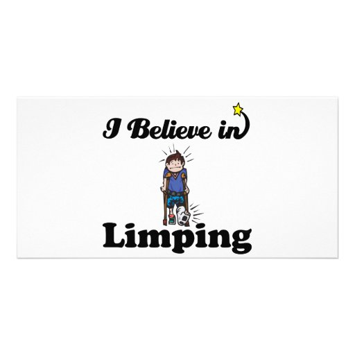 i believe in limping photo greeting card
