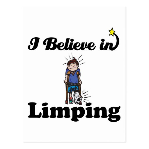 i believe in limping post cards
