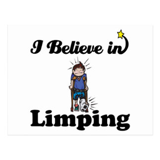 i believe in limping postcard