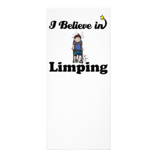 i believe in limping customized rack card