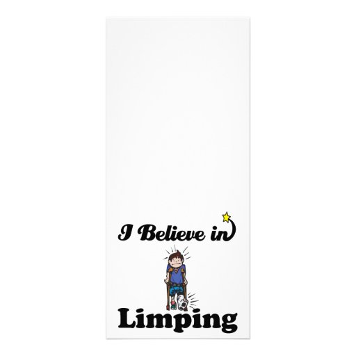 i believe in limping rack cards