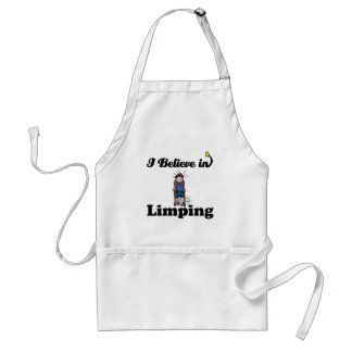 i believe in limping standard apron