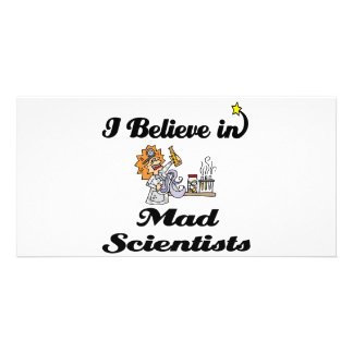 i believe in mad scientists photo card template